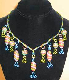 It's a Mod, Mod, World Beaded Necklace