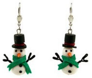 Polymer Clay Christmas Jewelry.Snowman Bead Earrings Favecrafts Com