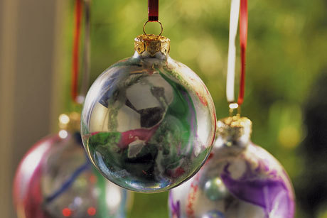 Mirrored Swirl Ornaments