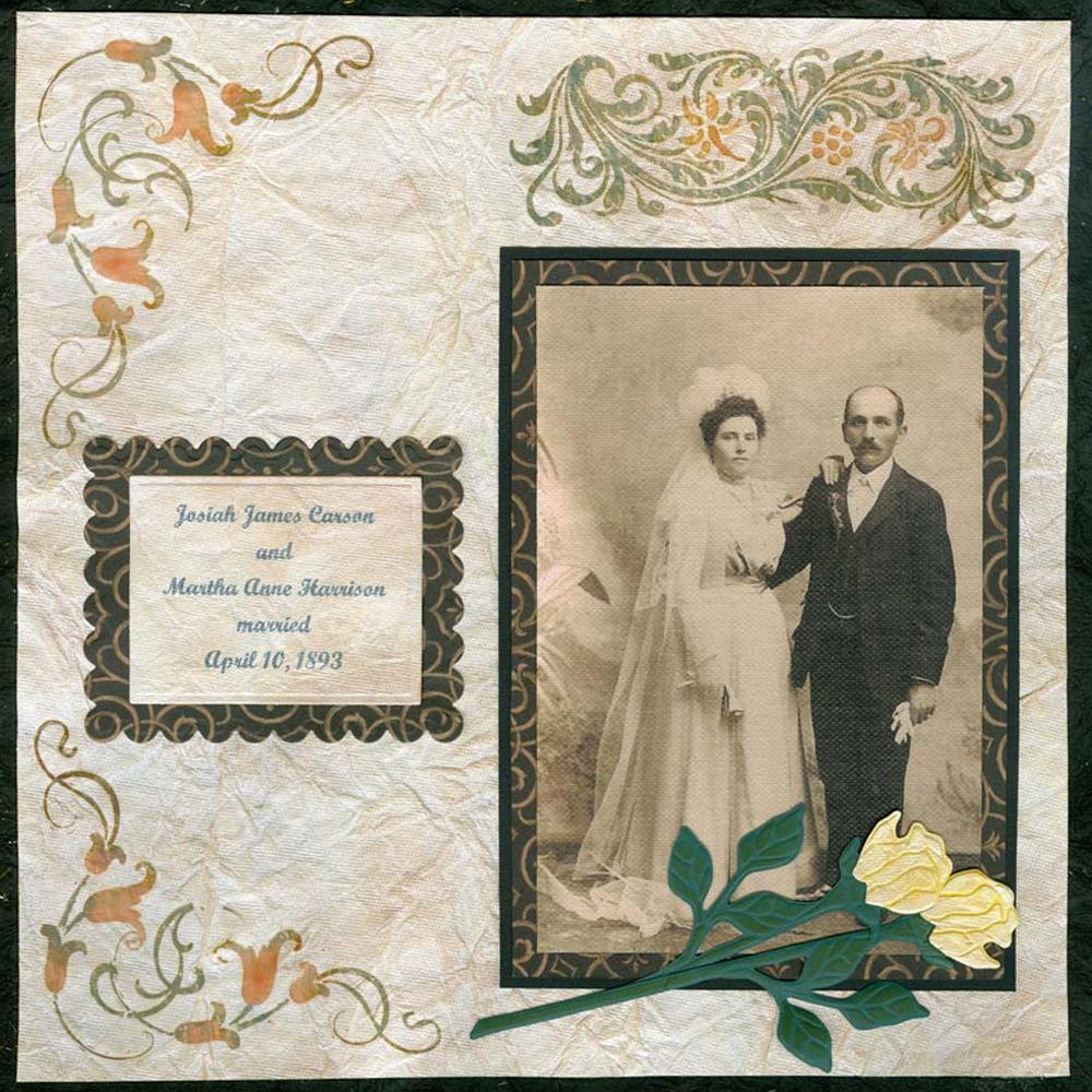 Vintage wedding day scrapbook layout - Scrapbooking idees pages ...
