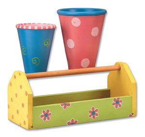 Gardening Tote and Rose Pots