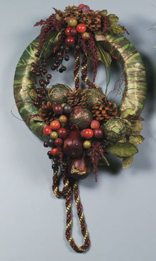 Autumn Pearberry Wreath