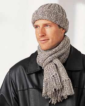 Men's Winter Hat and Scarf