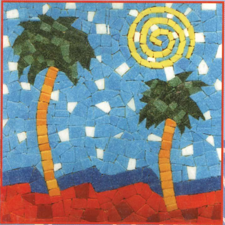 mosaic templates for kids - beach mosaic art