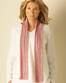 Chain Stitch Scarf Knitting Pattern