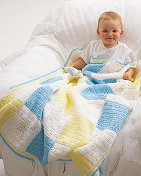 Baby Block Crochet Blanket
