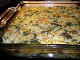 Special Spinach and Rice Casserole