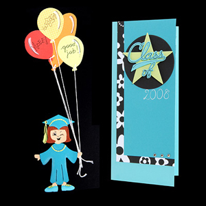 Graduate with Balloons Card