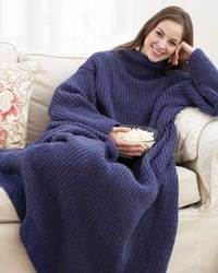 Afghan with Sleeves Knitting Pattern