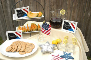 Fourth of July Chalkboard Labels