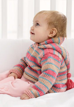 Chunky Hoodie Baby Sweater Knitting Pattern Favecrafts Com