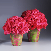 Hot Pink Centerpiece Pots