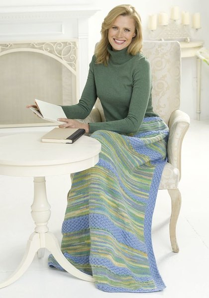 Peaceful Lap Afghan Knitting Pattern Favecrafts Com