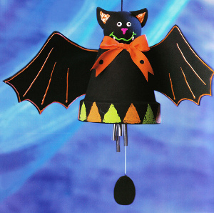 Halloween Clay Pot Bat Wind Chime Favecrafts Com