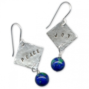 Peace and Joy Holiday Earrings