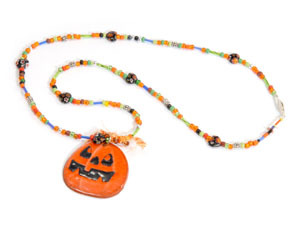 Pumpkin Bead Necklace