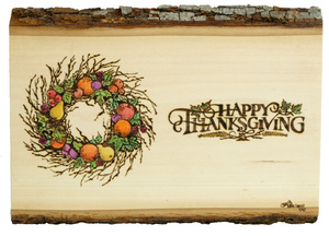Happy Thanksgiving Woodburned Plaque