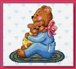 Loving Bears Cross Stitch Pattern