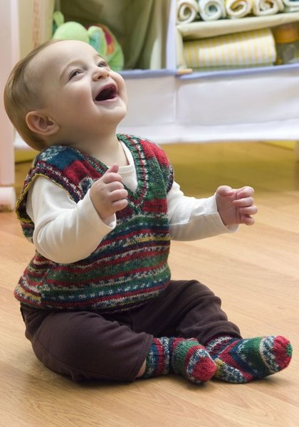 Baby Holiday Vest Crochet Pattern From Red Heart Yarn