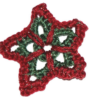 Crochet Star Ornament