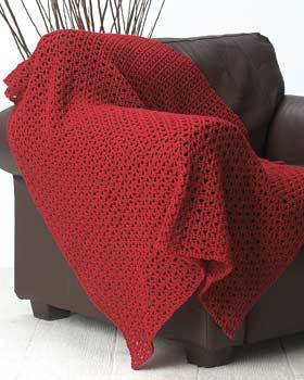 Red Crochet Afghan
