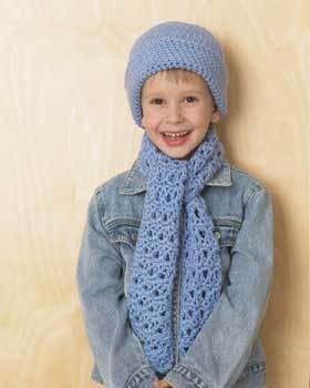 Little Blue Hat and Scarf Set