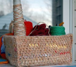 Crochet Scrap Basket