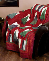 Christmas Tree Crochet Throw