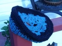 Peace Fleece Lacy Beret Crochet