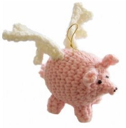 Amigurumi Flying Crochet Pigs