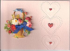 Hearts and Bouquet Valentine's Day Card