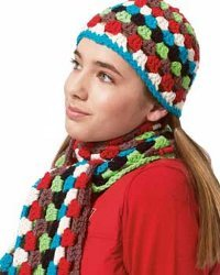Beginner Crochet Hat and Scarf Set