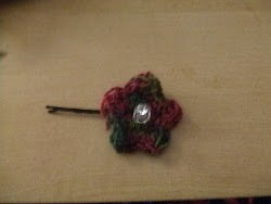 Crochet Flower Hair piece