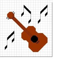Granny Square Guitar Afghan AllFreeCrochet.com