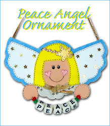 A Peaceful Angel Ornament