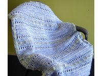 X's and O's Crochet Baby Blanket