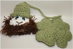 Crochet Leprechaun and Shamrock