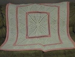 Cable Hearts Crochet Baby Afghan