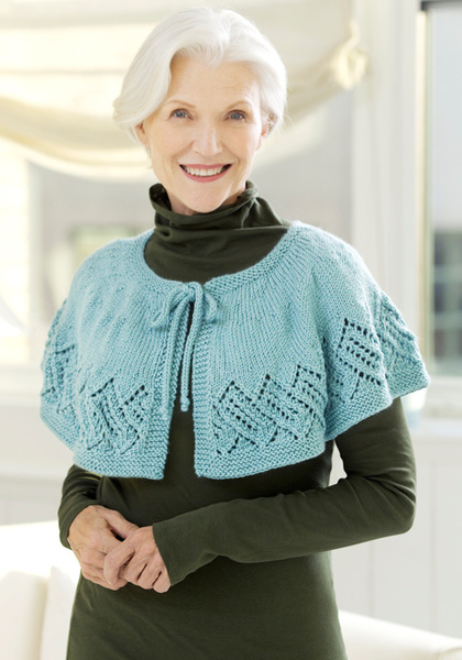 Lace Capelet Knitting Pattern From Red Heart Yarn