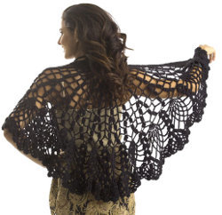 Crochet Pineapple Lace Shawl