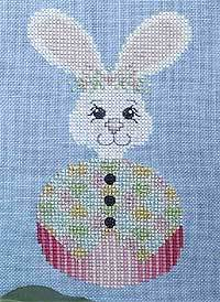 Roly Bunny Cross Stitch Design