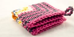 Crochet Pink Dishcloth