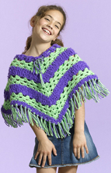 Simply Soft Striped Poncho