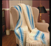 Crochet Striped Afghan Pattern
