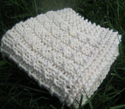 Knit Simple Weave Washcloth