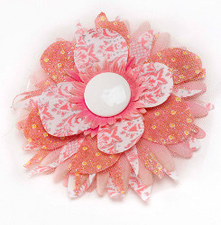 Mod Podge Flower Pin