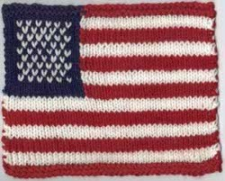 Knitted American Flag