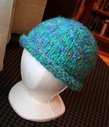 Basic Rolled Brim Hat AllFreeKnitting.com