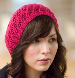 d3e539719a8 You ll never want to take this hat off - that s why it s called an All Day  Beret! This free knitting pattern will keep your hair nicely in place.