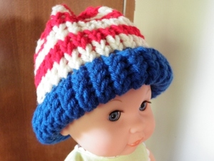 American Flag Loom Knit Hat: Version 1